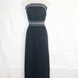 Dynamite I Embroidered Strapless Maxi Dress